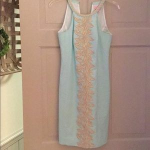 LILLY PULITZER PEARL LACE SHIFT DRESS/ LINED